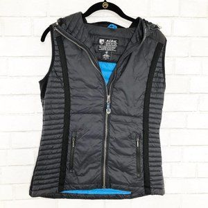 Kuhl Black Hooded Down Puffer Vest, Size Small